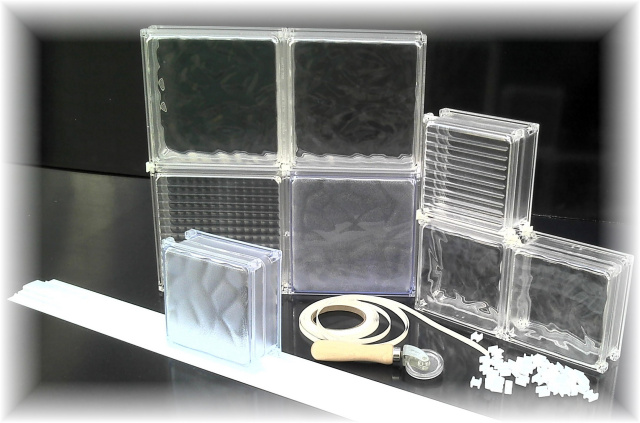 Acrylic blocks 70 lighter than glass lifetime warranty for Acrylic glass blocks